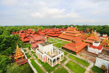 view of Mandalay Royal Palace in Myanmar from the Watch Tower