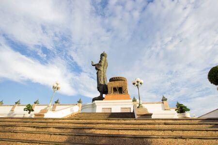 nakhon pathom: blue sky at  Phutthamonthon(Buddhist park in Phutthamonthon district,Nakhon Pathom Province of Thailand)