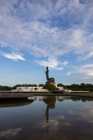 nakhon: blue sky at  Phutthamonthon(Buddhist park in Phutthamonthon district,Nakhon Pathom Province of Thailand)