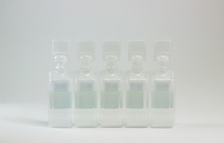 ampoules: plastic ampoules containing pharmaceutical products Stock Photo