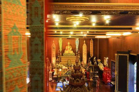 in wat phra kaew: Phra Buddha Sri Chiang Rai in Wat Phra Kaew,Chiang Rai,Thailand Editorial