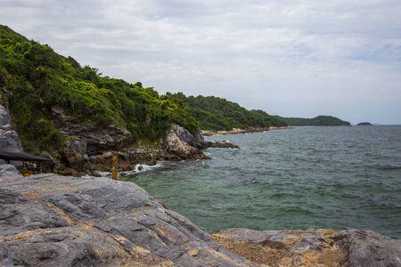 beautiful cliffs at Koh Sichang,Chonburi,Thailand Stock Photo