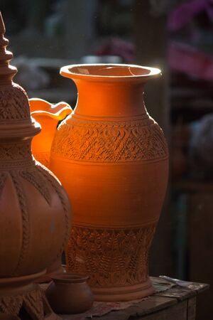 Thai style earthenware at Ko Kret in Nonthaburi province,Thailand