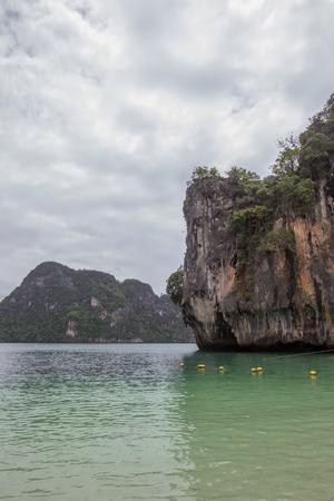 lading: Limestone hills around Lading island(Paradise island) in Krabi province,Southern Thailand. Stock Photo