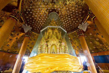 Holy relics housed in Octagonal pagoda named Ketkaew Prasat Chedi at Wat Tham Sua(Tiger Cave Temple),Tha Muang District,Kanchanaburi,Thailand. Stock Photo