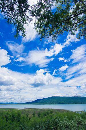 korat: Magnificent views of Lam Takhong reservoir seen from Thao Suranari Park,Ban Nong Sarai,Pak Chong,Nakhon Ratchasima,Thailand.