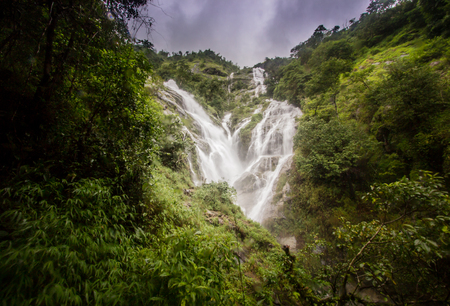 Pitugro Waterfall(Petro Lo Su) or Heart Waterfall,the highest waterfall in Thailand,located in Umphang Wildlife Sanctuary,Tak Province.