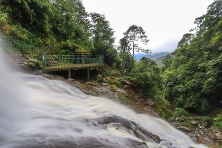Stunning scenery and fresh cool atmosphere at Silver Waterfall (Thac Bac waterfall) in Sapa,Lao Cai province,North Vietnam. Stock fotó