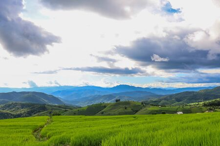 Beautiful scenery of Ban Pa Pong Piang,Mae Chaem,Chiang Mai province,Northern Thailand.