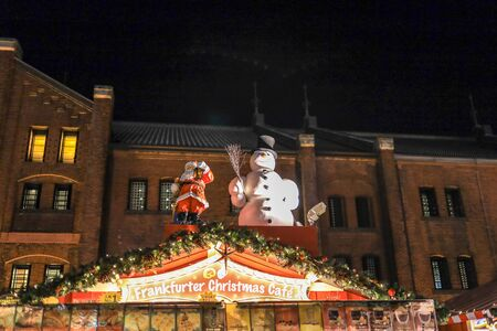Yokohama,Japan on December8,2019:Traditional German style Christmas Market at Yokohama Red Brick Warehouse.