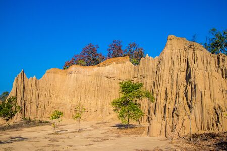 Wonderful natural structures of Kok Sua(Tiger's Den) in Si nan National Park,Na Noi district,Nan Province,Northern Thailand. 스톡 콘텐츠