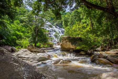 Mae Ya Waterfall in Doi Inthanon National Park,Jom Thong District,Chiang Mai province,Northern Thailand.One of the most beautiful waterfalls in Thailand.