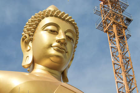 Phasi Charoen district,Bangkok,Thailand on May29,2020:Large golden Buddha image named 에디토리얼