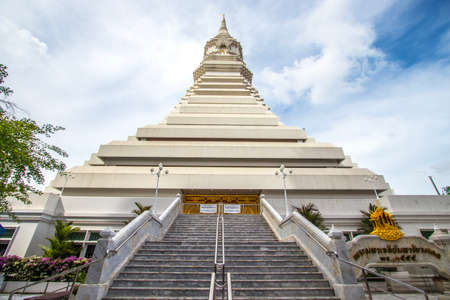 Phasi Charoen district,Bangkok,Thailand on May29,2020:White pagoda named