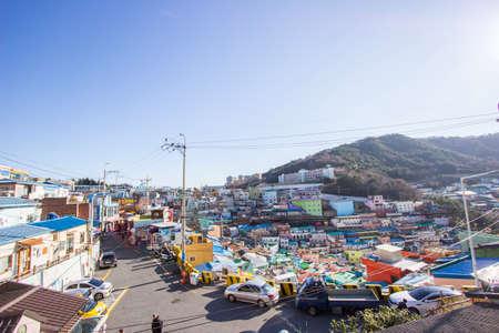 Gamcheon-dong,Saha District,Busan,South Korea on December31,2019:colorful scene of Gamcheon Culture Village.