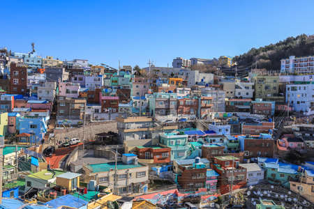 Gamcheon-dong,Saha District,Busan,South Korea on December31,2019:colorful scene of Gamcheon Culture Village.