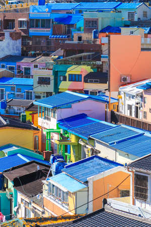 Gamcheon-dong,Saha District,Busan,South Korea on December31,2019:colorful scene of Gamcheon Culture Village. 스톡 콘텐츠 - 148475342