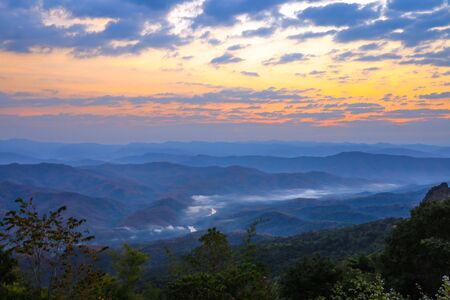 Breathtaking Views in the morning at Doi Samer Dao,Sri Nan National Park,Na Noi,Nan province,Northern Thailand.(selective focus) 스톡 콘텐츠 - 149806773