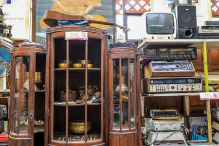 Phasi Charoen,Bangkok,Thailand on June 26,2020:Klong Bang Luang Community museum in which objects of historical,scientific,artistic, or cultural interest are stored and exhibited.