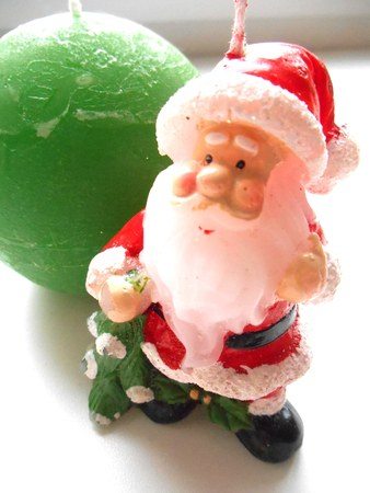 Christmas candle Santa Claus photo