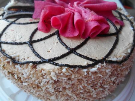 cake background: Cream cake background Stock Photo