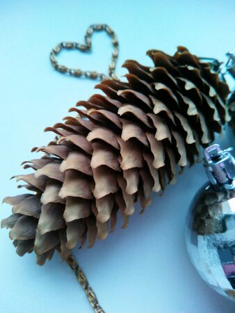 pomme de pin: C�ne de pin d�corations de No�l