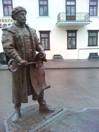 historische: Sculptuur in Minsk historische Stockfoto