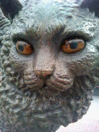 eye: Sculpture cat in Minsk near the circus