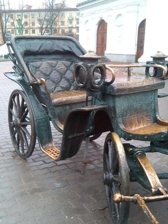 minsk: Sculpture stroller fragment in Minsk Stock Photo