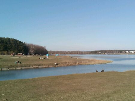 lake shore: Landscape on the lake shore Stock Photo