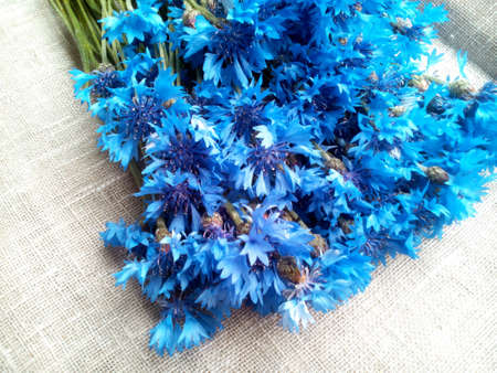 decoration: Blue cornflowers