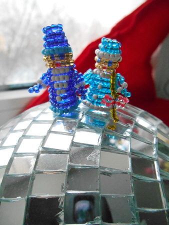 snow maiden: Santa Claus and Snow Maiden Christmas decorations