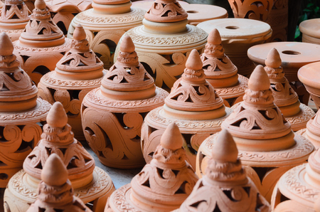 Group of Earthenware. Stock Photo