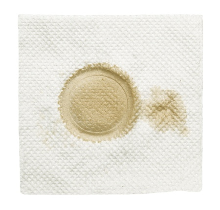 napkin with stain isolated  on a white Stock Photo - 16324482