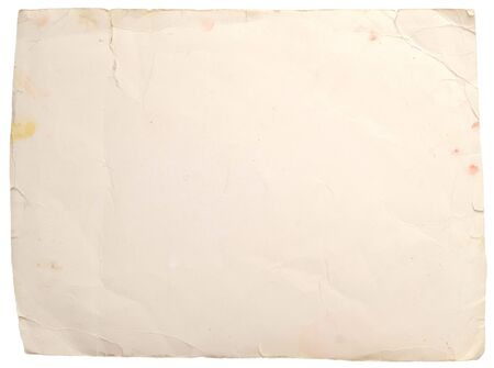 old paper on a white