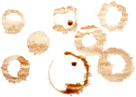 cruddy: grungy stains isolated on a white