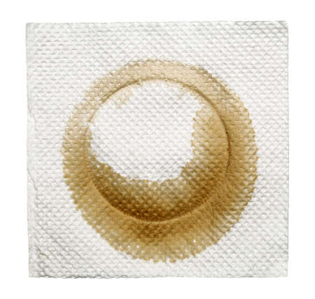 napkin with stain isolated on a white Stock Photo - 16700460