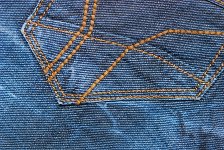 blue jeans fabric with pocket, background photo