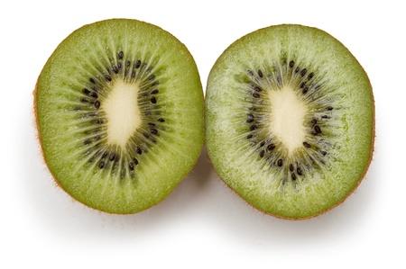 close-up slices of kiwi on a white  Stock Photo - 16700334