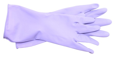 rubber gloves on a white background photo