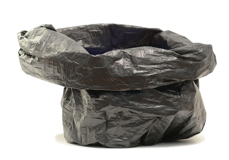 garbage bag on a white background