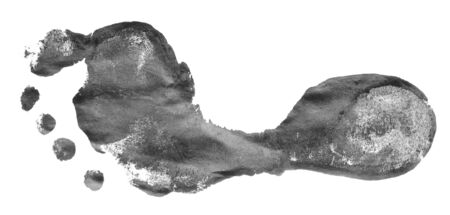 footprint isolated on a white background Imagens