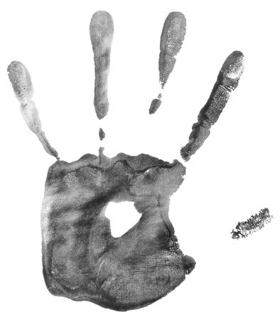 hand print isolated on white background photo