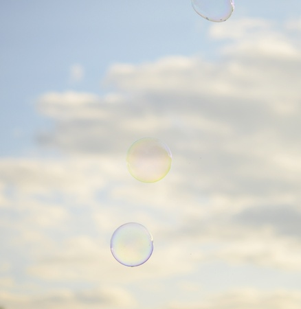bubbles on the sky photo