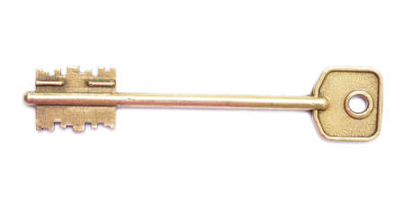 key isolated on white background photo
