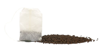 granulated tea isolated on white background photo