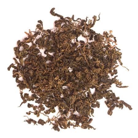 alternative medicine: green tea isolated on white background Stock Photo