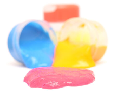 finger paints isolated on white background photo