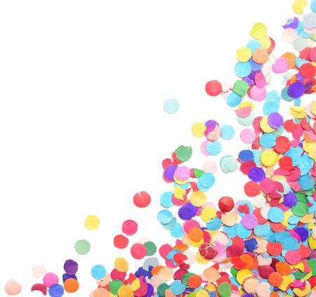 confetti isolated on white background