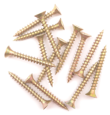 screws isolated on white background Фото со стока